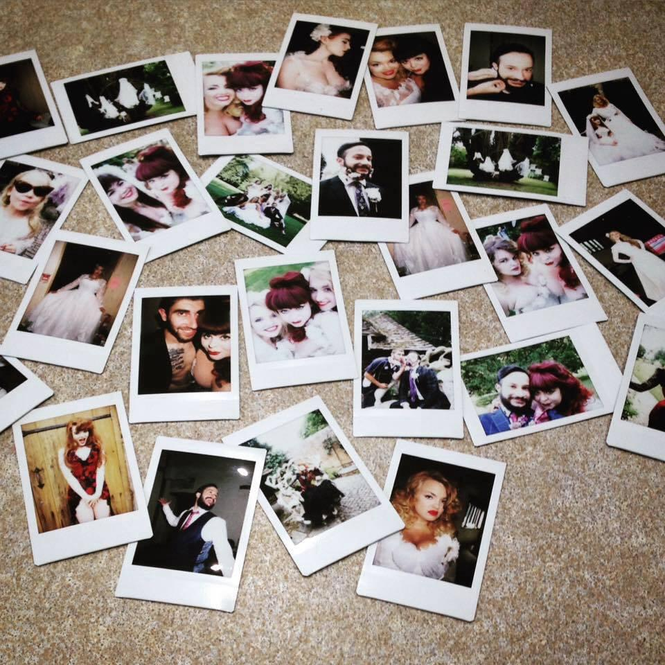 All of the behind the scenes polaroid pictures from the shoot, find all of the team over on Instagram @rosieredcorsetry ❤